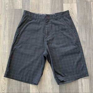 "Billabong Tonal Plaid Shorts - Black - 11"" Inseam"